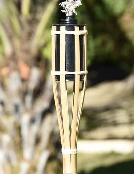 Faura 90 cm. - Antorcha de bambú - Suelo: Amazon.es: Jardín