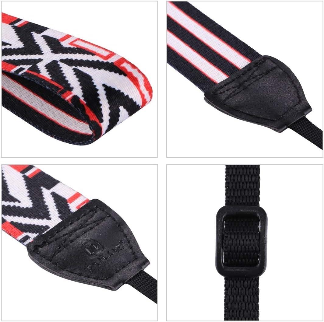 Ychaoya Camera Belt Wuzpx Retro Pagan Style Particoloured Series Butterflies Shoulder Neck Strap Camera Strap for SLR//DSLR Cameras Color : Color4