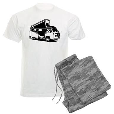 ae4476a157 Amazon.com  CafePress - Family Camper Van Men s Light Pajamas - Unisex  Novelty Cotton Pajama Set