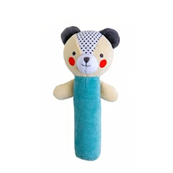 Petit Collage Organic Baby Squeaker, Bear
