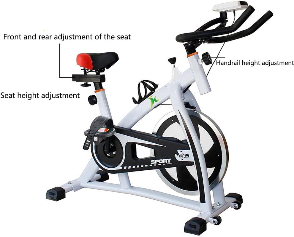 Bicicleta Spinning Profesional,Indoor Cycling Electromagnético Aplicación Inteligente,Resistencia Variable Bicicleta Estatica Con Pedal Antideslizante Capacidad Máxima de Carga 160KG,White: Amazon.es: Deportes y aire libre