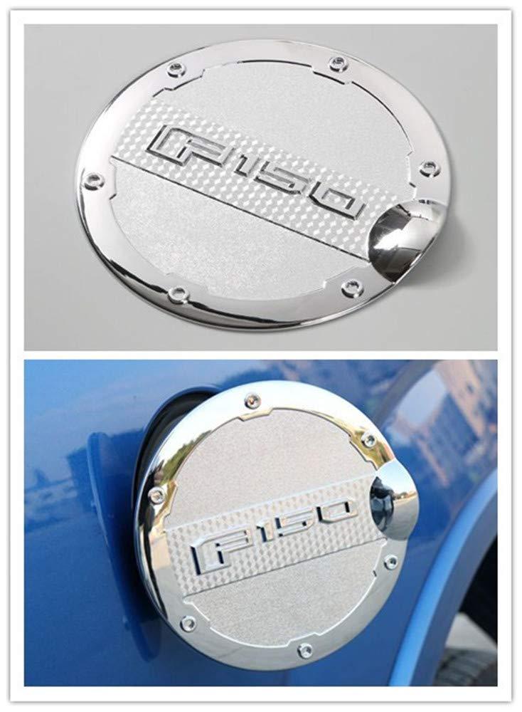 F150 2015-2018 Chrome Gas Door Cover Fuel Tank Oil Cap Trim For Ford F-150 Aspeike