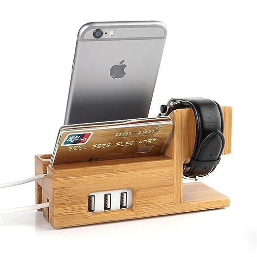 3 opinioni per RoseFlower® Apple Watch iphone Android Stand Supporto di Ricarica con Hub USB 3