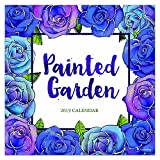 2019 Wall Calendar - 2019 Painted Garden Calendar, 12x12 Inch Monthly Calendar, Art and Flowers Theme, with 4-Month 2020 Bonus Spread