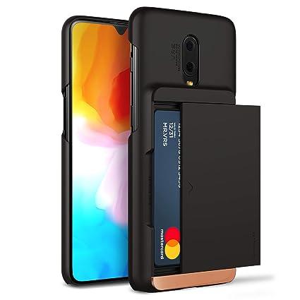 pretty nice 0b6f1 6f7fb OnePlus 6T Case, VRS Design [Matte Black] Semi-Automatic US Patent Gliding  Wallet Phone Case [Damda Glide X D.Wallet] Secure 2 Card Holder Compatible  ...