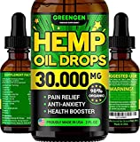 Hemp Oil 300,000mg for Stress Relief - Premium Superstrong Formula - Immunity & Mood Support - 100% Safe & Natural Ingredients - Provides Deep Sleep - Made in USA - Omega 3, 6 & 9