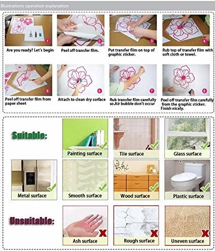 BJWQTY Decoraciones de sal/ón de Belleza de Dibujos Animados Calcoman/ía de PVC para Habitaciones de beb/és Murales de decoraci/ón de paredesXL 58cm X 81cm