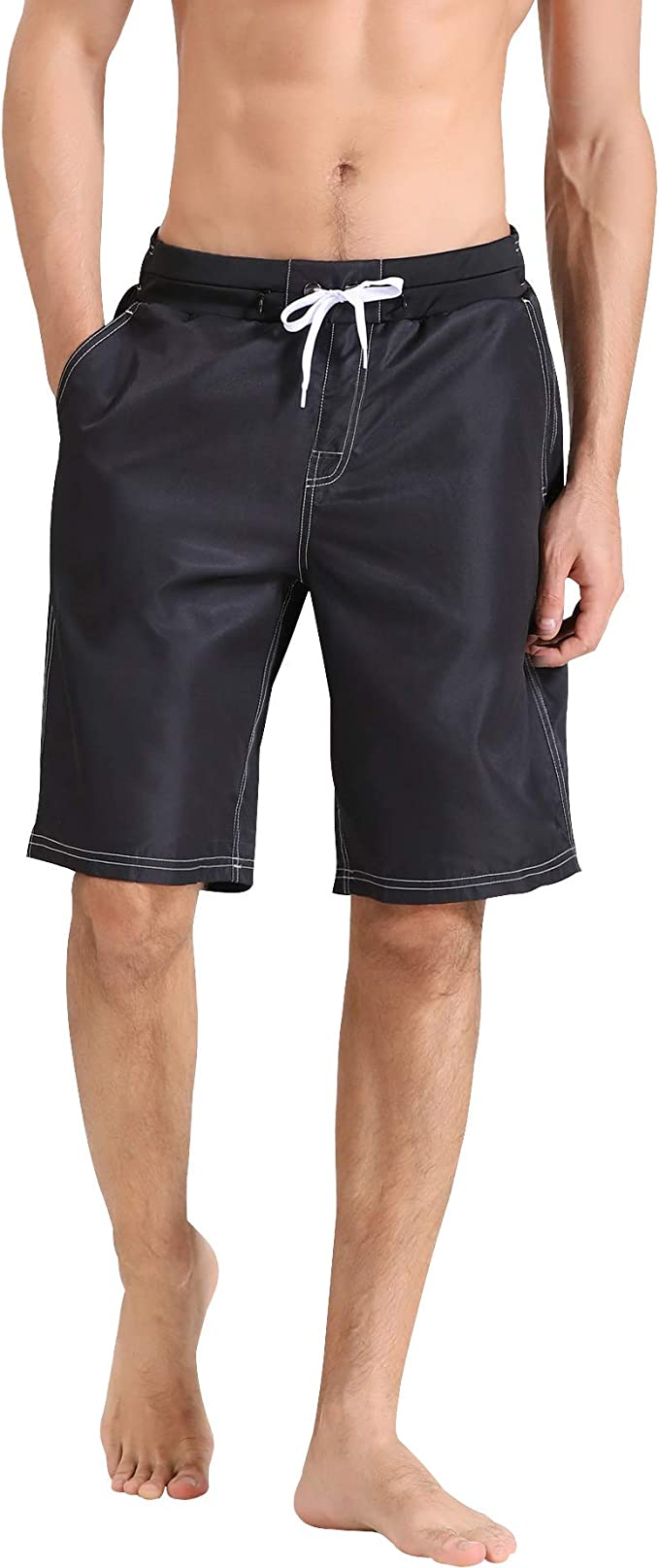 Wave Travel Mens Beach Board Shorts Quick Dry Summer Casual Swimming Soft Fabric with Pocket