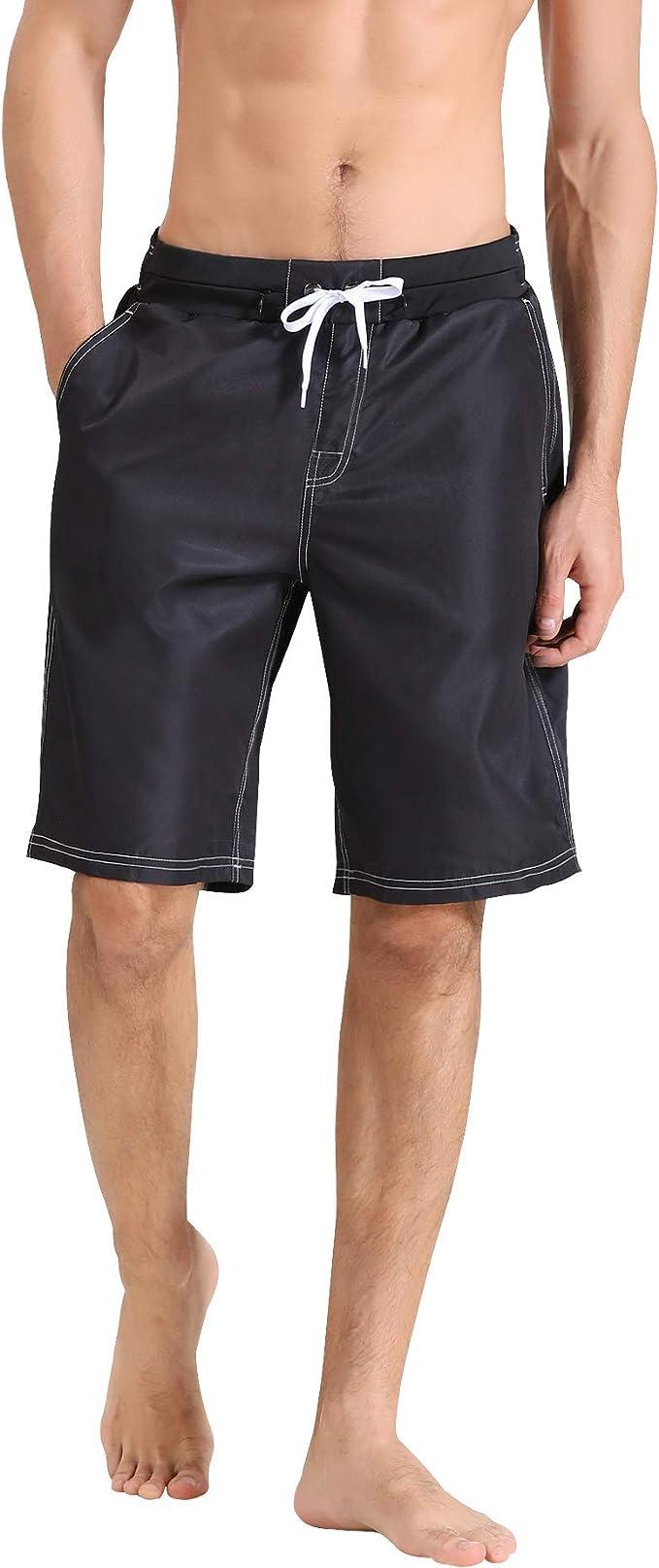 Mens Sea Waves Summer Holiday Quick-Drying Swim Trunks Beach Shorts Board Shorts