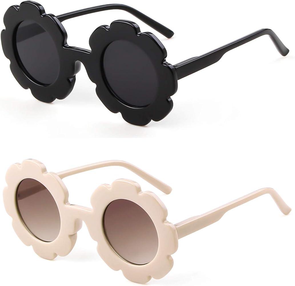 Kids Round Frame Sunglasses Kits UV Protection and Resin Lenses Best Gift