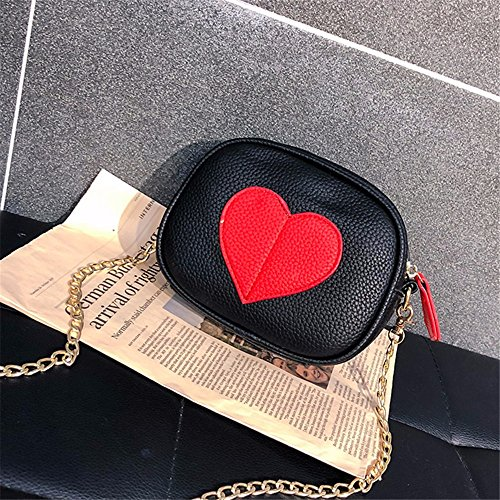 Cross Hombro black Silvery Hombro Body Bolsillos Pequeño con Bags Wristlet Vintage Mujer Casual Capacity Soft Clutch Leather Muchos Shoulder Large para PU Cr8gCqw