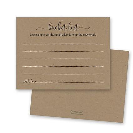 48 cnt kraft wedding bucket list kraft wedding advice rustic advice card bridal