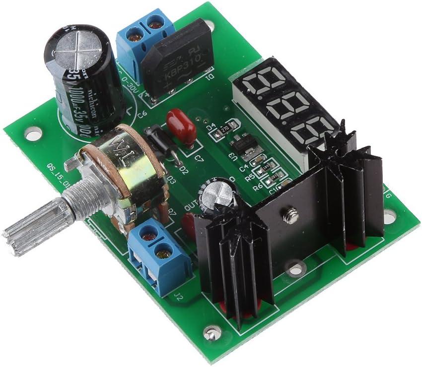 LM317 Regulador de Voltaje Ajustable Renuncia Pantalla del Módulo de Fuente de Alimentación Dirigido