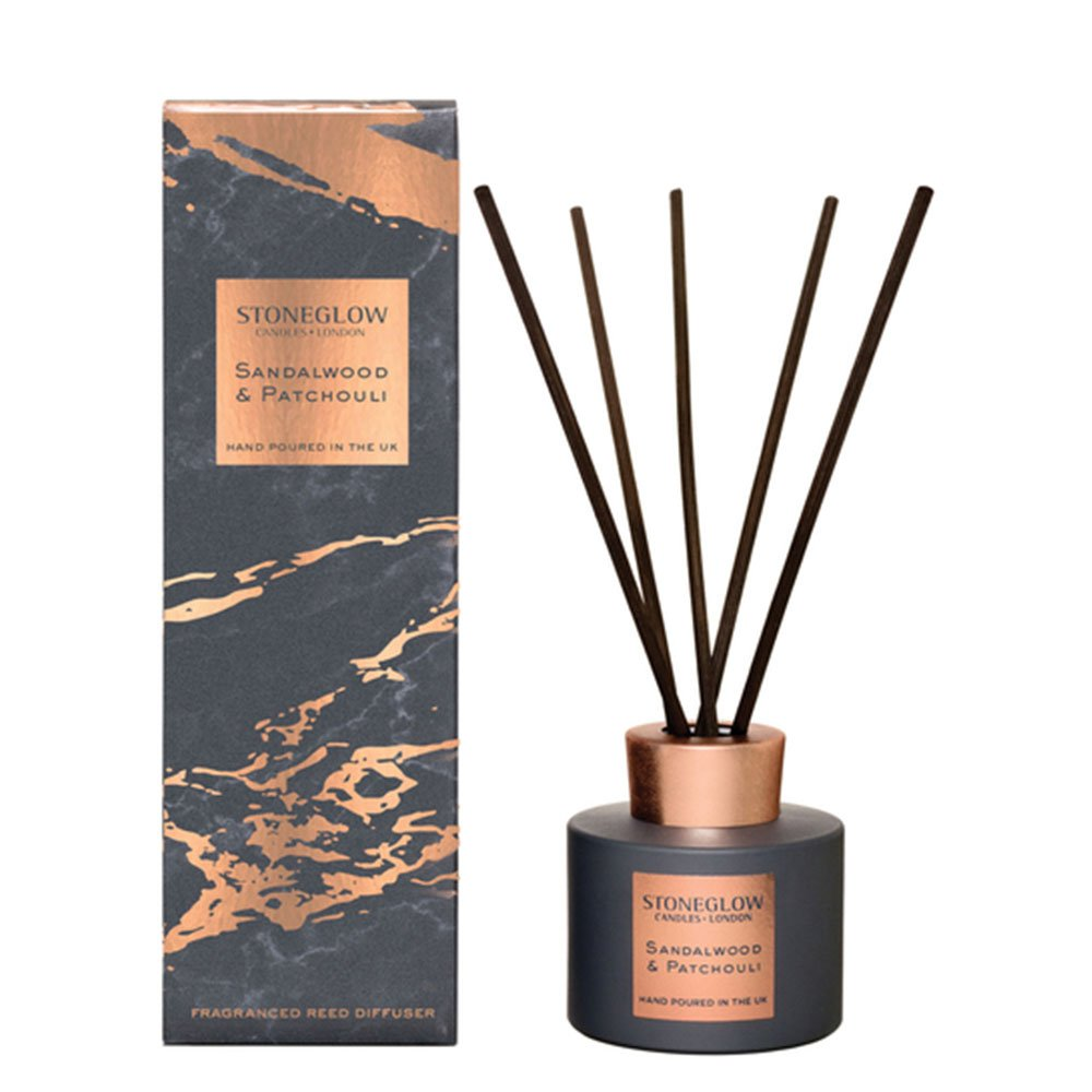 StoneGlow Seasonal Collection LUNA Sandalwood & Patchouli Reed Diffuser(6124)