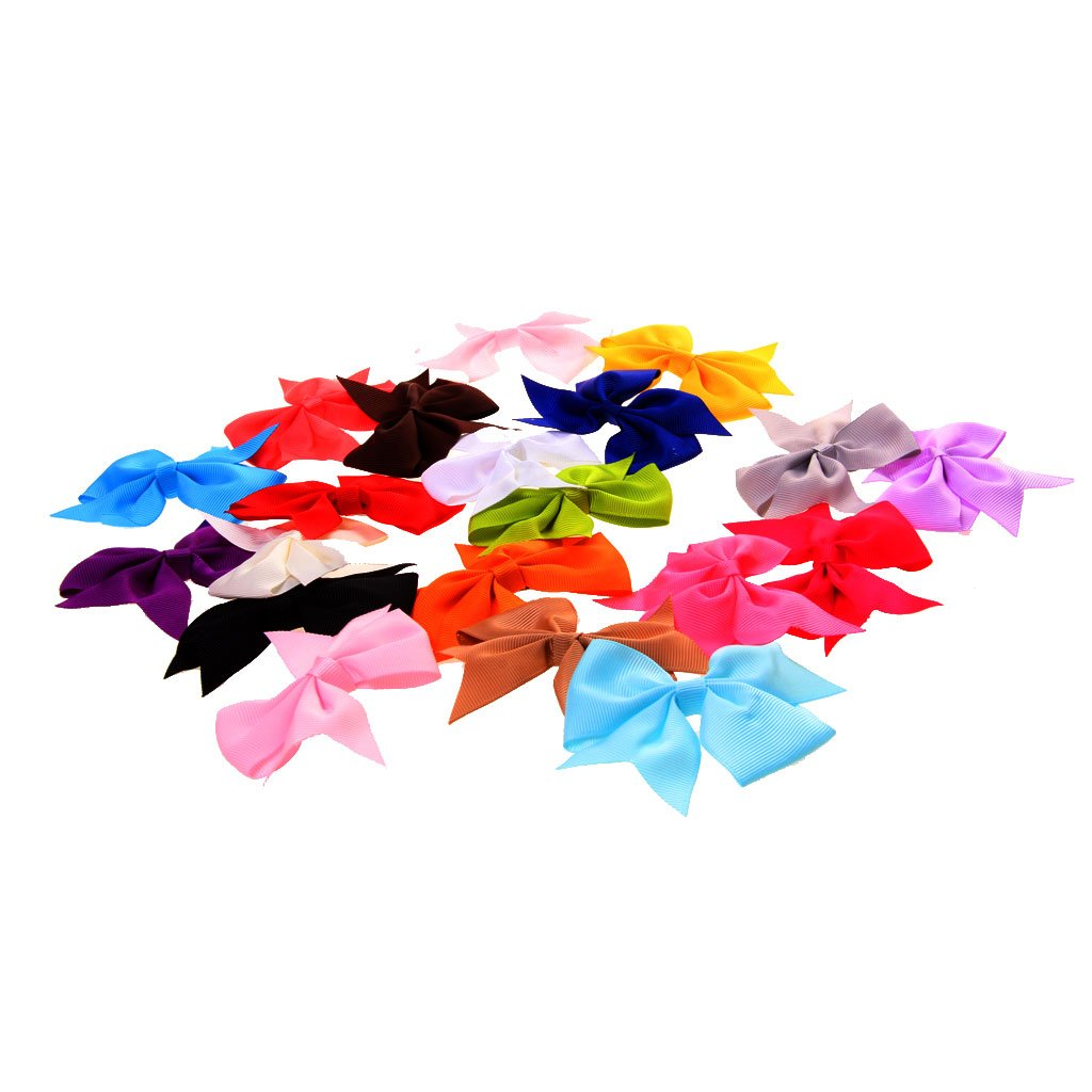 Generic Girl's Bow Ribbon (Assorted)-Pack Of 20 product image