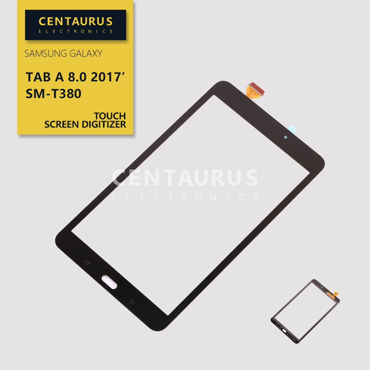 Touch Screen T380 For Samsung Galaxy Tab A 8.0 2017 (WIFI) SM-T380 Touch Screen Digitizer Panel Replacement Part (NO LCD) Black