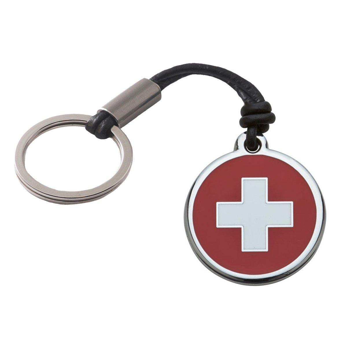 Schlü sselanhä nger Red Dingo Schweiz Wunschtext Gravur Lederband Geschenk Siegtaler 4041187022429