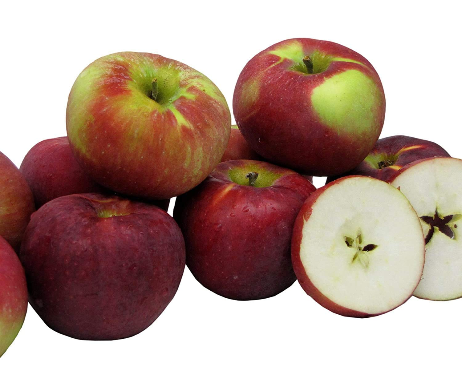 Kauffman Orchards Cortland Apples, Fresh-Picked and Sun-Ripened (Box of 8)