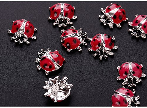 10Pcs/lot 3D Nail Charms Silver Alloy Nail Arts UV Gel DI...