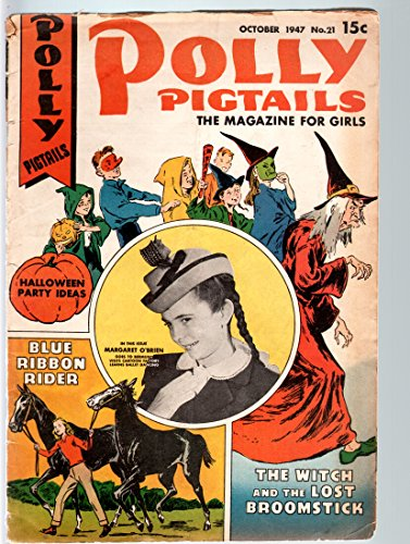 POLLY PIGTAILS #21-1946-MARGARET O'BRIEN PHOTO COVER & STORY-HALLOWEEN ISSU VG -