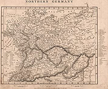 northern germany states free cities switzerland austria arrowsmith 1828 old