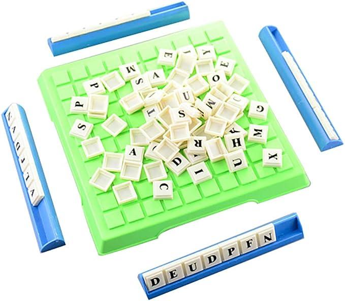 Bescita A-Z Alfabeto Scrabble, lindo, diseño de dibujos animados, madera, alfabeto, imán de nevera, niños, juguete de aprendizaje: Amazon.es: Bebé