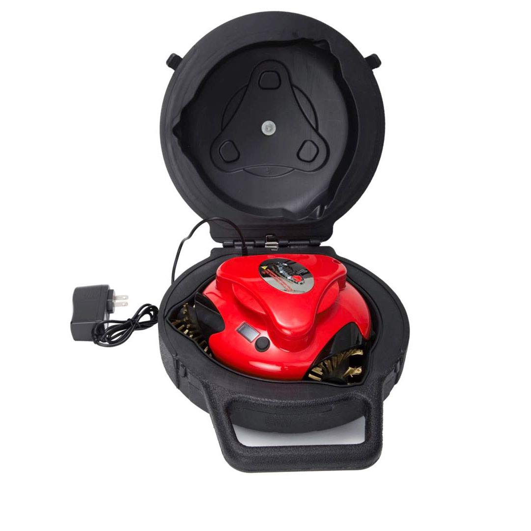 Grillbot Automatic Grill Cleaning Robot with Carrying Case - BBQ Grill Cleaner - Grill Brush - Grill Scraper - BBQ Accessories, Red by Grillbot