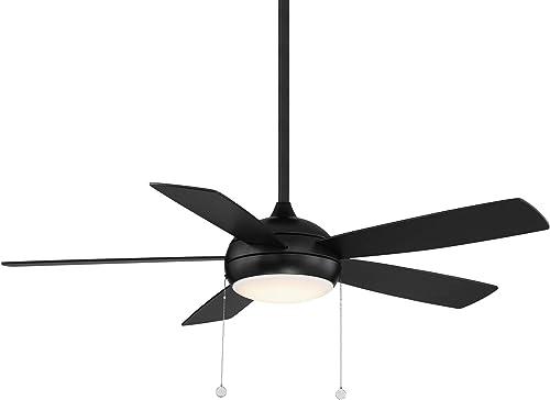 WAC Lighting F-002L-MB Disc Energy Efficient Ceiling Fans, 52, Matte Black