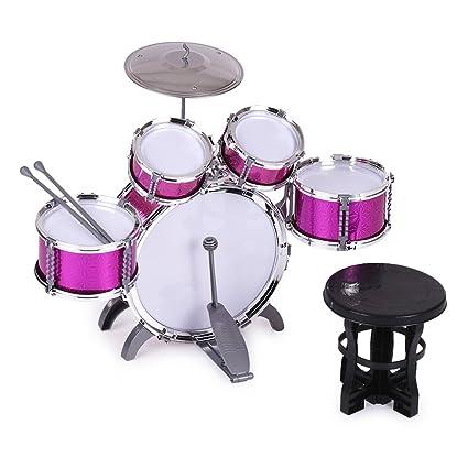 Amazon Com Ammoon Children Kids Drum Set Musical Instrument Toy 5