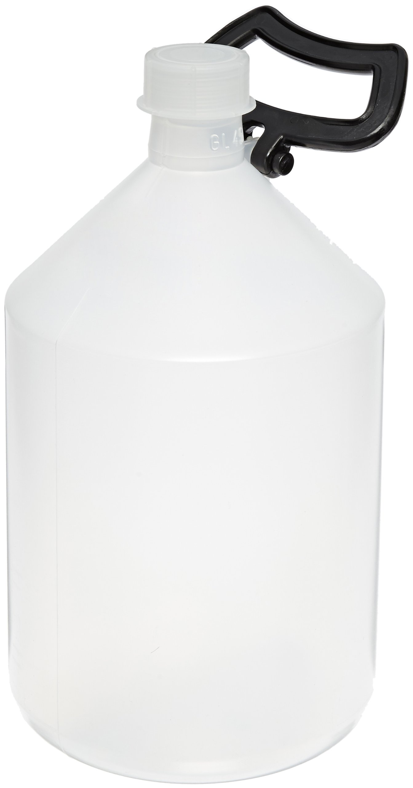 Vitlab Polypropylene Narrow Mouth Reagent Bottle With Polypropylene Screw Caps, Thread Finish GL45, 5L Capacity