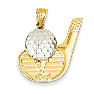 Amazon 14k gold golf pendant classy pendants for necklace 14k gold golf pendant classy pendants for necklace women jewelry aloadofball Images