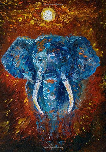 African Elephant Artwork Notebook with Inspirational and Motivational Proverbs and Quotes: A Classic 7x10 Inch Ruled/Lined Composition Book/Journal ... Journals and Other Gifts for Women and Men)