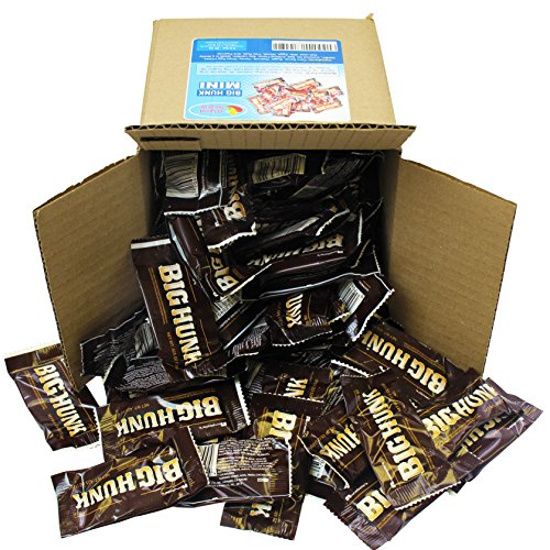 Big Hunk Candy Bars - Annabelle Candy - Mini Nougat Taffy Bar, Bulk Party Box 6x6x6 Family (Abba Zaba Mini)