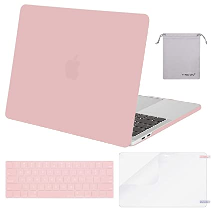 lowest price e3fae 97ca2 MOSISO MacBook Pro 13 inch Case 2019 2018 2017 2016 Release A2159 A1989  A1706 A1708,Plastic Hard Shell& Keyboard Cover& Screen Protector& Storage  Bag ...
