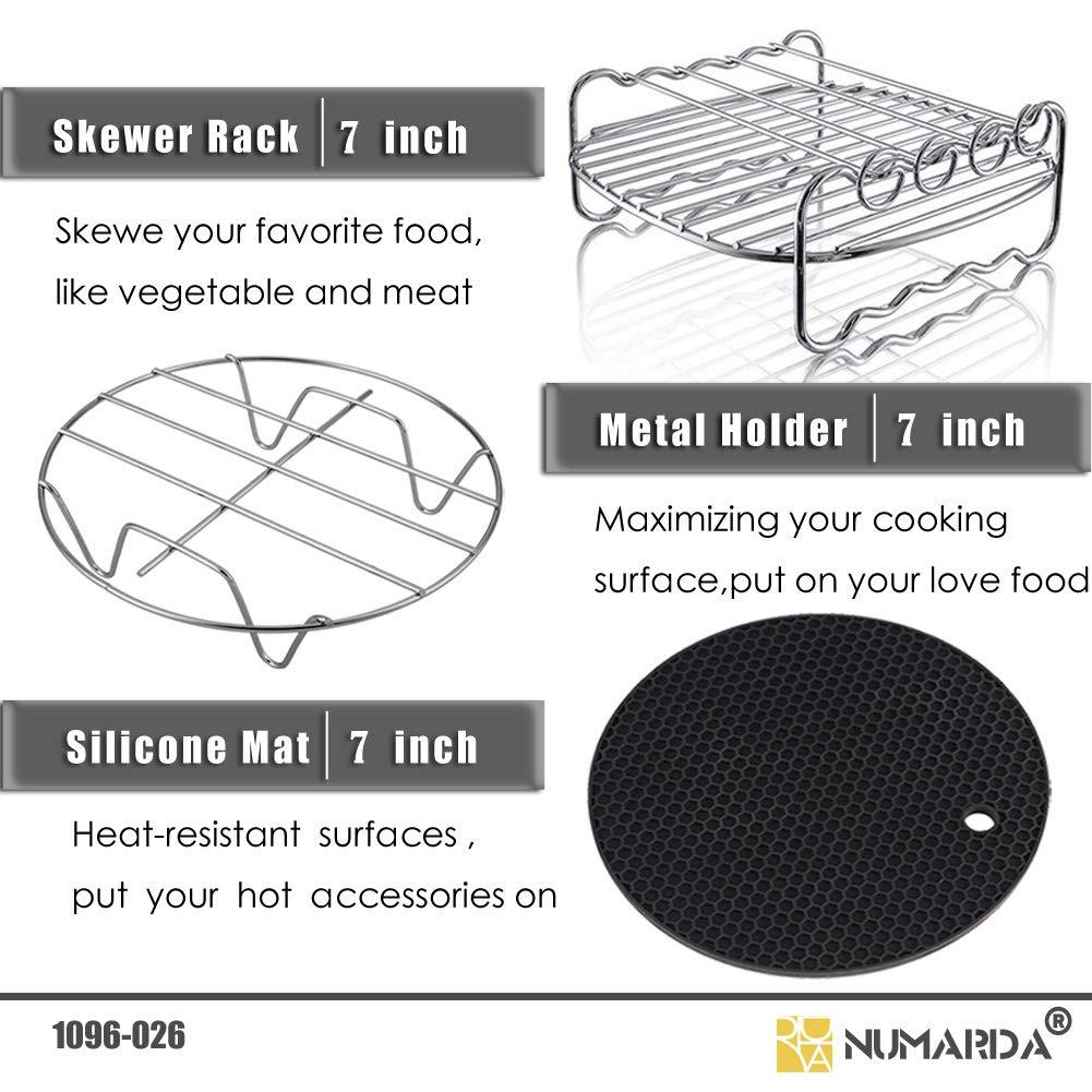 Air Fryer Accessories,Phillips Air Fryer Accessories and Gowise Air Fryer Accessories Fit all 3.7QT-5.3QT-5.8QT,Set of 5-7 inch by NUMARDA (Image #3)