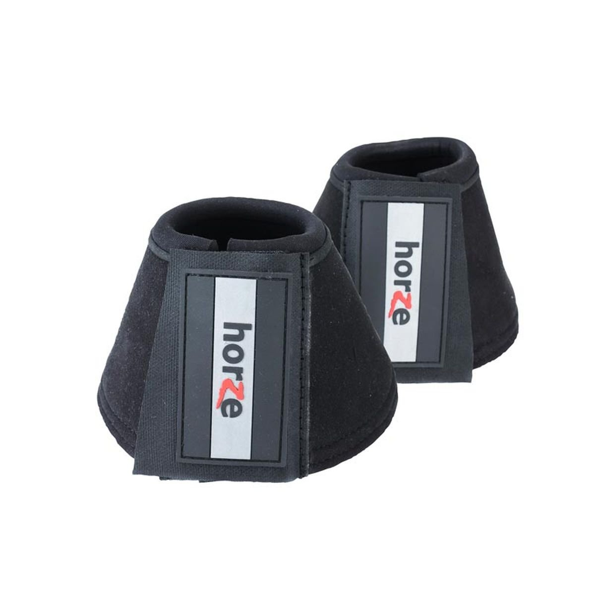 Horze Allround Bell Boots, Reinforced with Durable Synthetic Suede (Black(BL), X-Large)