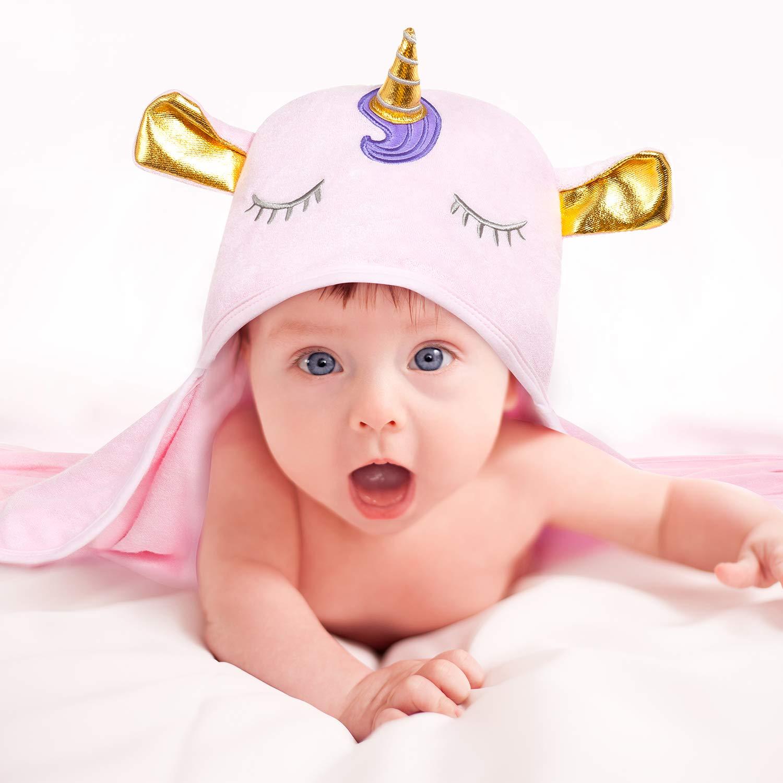 Amazon.com: Toalla con capucha para bebé Upsimple, toalla de ...