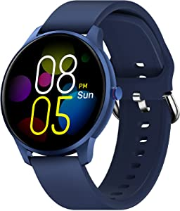 Smart Watch for Android iOS Phone Compatible with iPhone Samsung, CUBOT IP68 Waterproof Fitness Tracker, Heart Rate Monitor Smartwatch, Pedometer Sleep Monitor Fitness Watch for Women Men, Blue