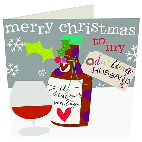 Auguri Di Natale Per Il Marito.Caroline Gardner Lusso Di Auguri Di Natale Marito Amazon It