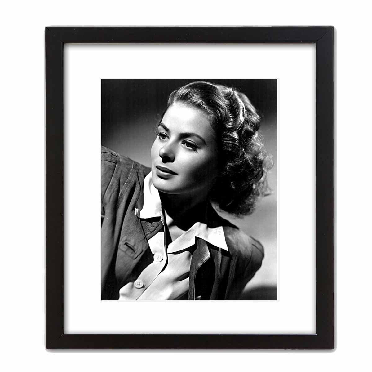 ArtDash/® Photo Art Print by Actress INGRID BERGMAN Black and White Photograph 8/×10 print