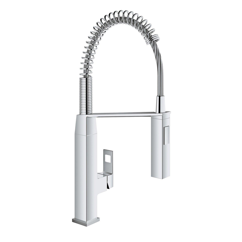 Eurocube SingleHandle PullDown SemiPro Kitchen Faucet - Amazon grohe kitchen faucets