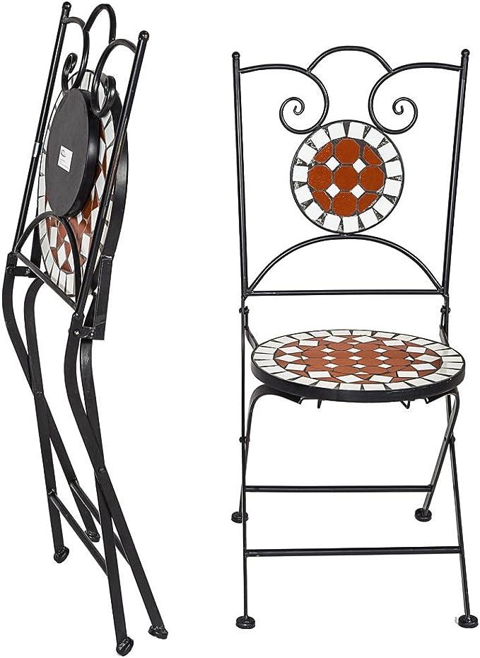TecTake Conjunto de muebles de jardín mosaico mesa con sillas ...