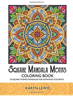 amazon com floral mandala motifs coloring book 30 flower themed