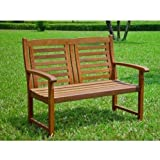 International Caravan VF-4306-IC Furniture Piece Acacia Trinidad Bench For Sale