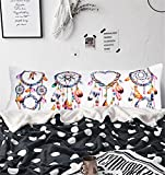 ARIGHTEX Watercolor Dreamcatcher Body Pillowcase Girls Pillow Cases Boho Home Decorative Bed Pillow Covers with Zipper 20''x 54'' (1 Piece) zipper along whole side