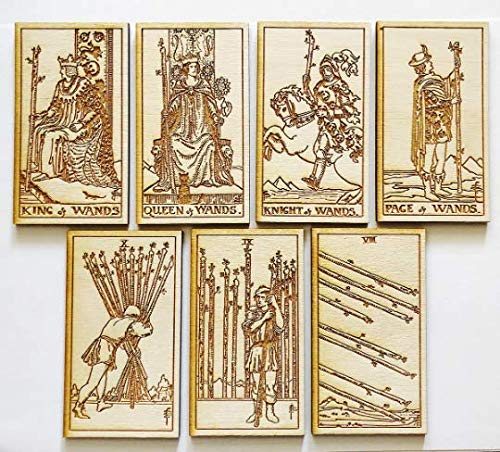 Amazon com: LumEngrave Wood Engraved Tarot Card Deck Rider