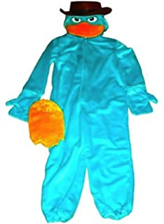 disney parks deluxe agent p perry costume phineas and ferb xs 4 5 extra - Phineas Halloween Costume