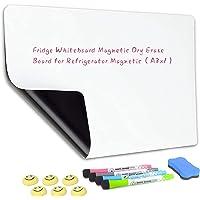 Qualsen Fridge Board Magnetic Dry Erase Whiteboard Sheet for Refrigerator Kitchen Whiteboard Reminder Board New Stain…