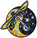 "Cosmic Dragonfly - Window Sticker / Decal - 4.5"" Translucent"