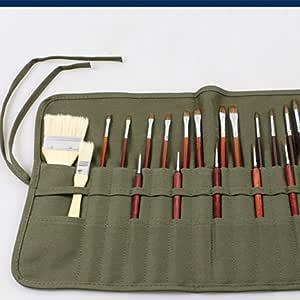 Estuche para lápices Hunpta con 22 ranuras para almacenar pinceles ...